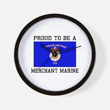 Proud to be a Merchant Marine Wall Clock