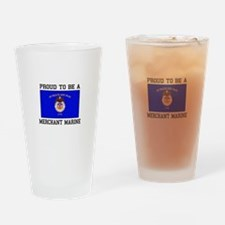 Proud to be a Merchant Marine Drinking Glass