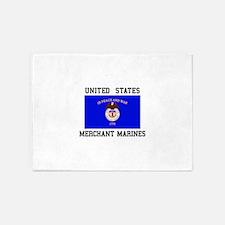 US Merchant Marine 5'x7'Area Rug