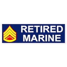USMC Retired <BR>Staff Sergeant Bumpersticker