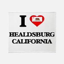 I love Healdsburg California Throw Blanket