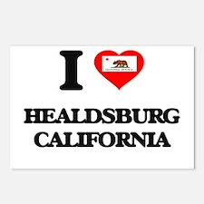 I love Healdsburg Califor Postcards (Package of 8)