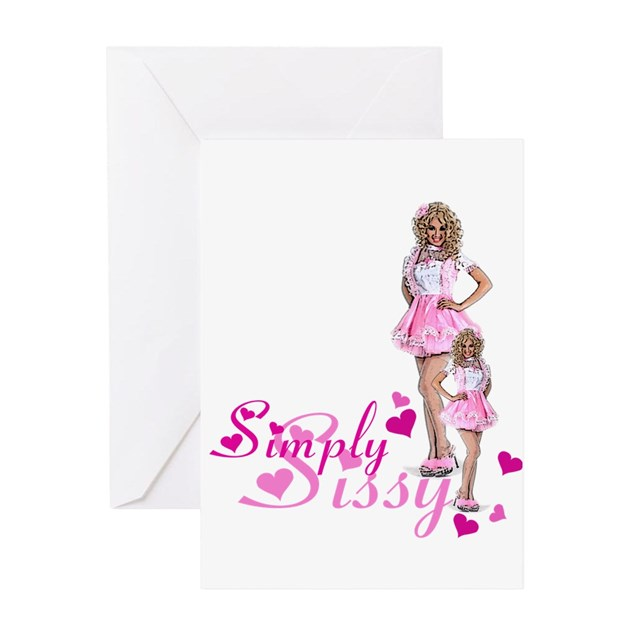 Simply Sissy Greeting Card By Uniqueandkinkygifts