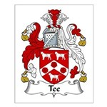 Tee Family Crest Small Poster