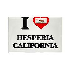 I love Hesperia California Magnets