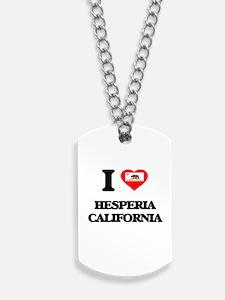 I love Hesperia California Dog Tags