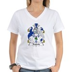 Teasdale Family Crest Women's V-Neck T-Shirt