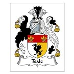 Teale Family Crest Small Poster