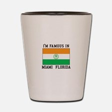 Famous in Miami Shot Glass