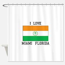 I Love Miami Shower Curtain