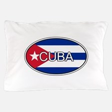 Cuba Flag Oval Pillow Case