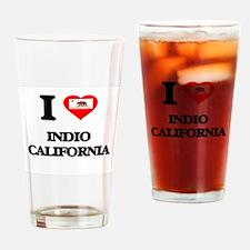 I love Indio California Drinking Glass