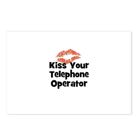 Kiss Your Telephone Operator Postcards (Package of