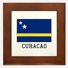 Curacao, Flag Framed Tile