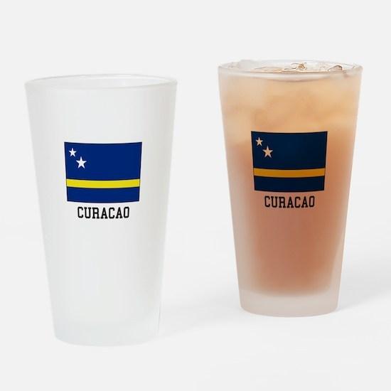 Curacao, Flag Drinking Glass