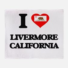 I love Livermore California Throw Blanket