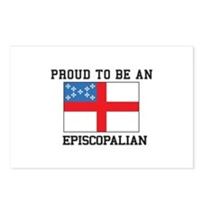 Proud be an Episcopal Flag Postcards (Package of 8
