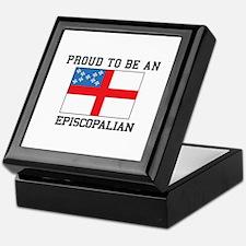 Proud be an Episcopal Flag Keepsake Box