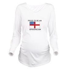 Proud be an Episcopal Flag Long Sleeve Maternity T