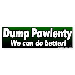 Dump Tim Pawlenty Bumper Bumper Sticker