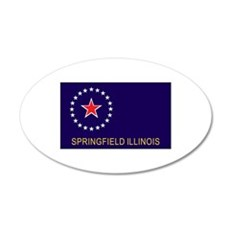 Springfield, Illinois Flag Wall Decal