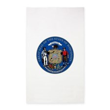 Wisconsin State Seal Area Rug