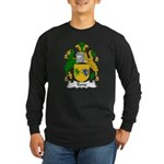 Tame Family Crest Long Sleeve Dark T-Shirt
