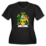 Tame Family Crest Women's Plus Size V-Neck Dark T-