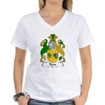 Tame Family Crest Women's V-Neck T-Shirt