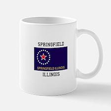Springfield, Illinois Flag Mugs