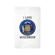 I Love Wisconsin Area Rug