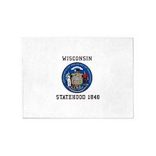 Wisconsin Statehood 1848 5'x7'Area Rug