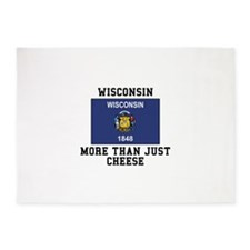Wisconsin More Than Just Cheese 5'x7'Area Rug