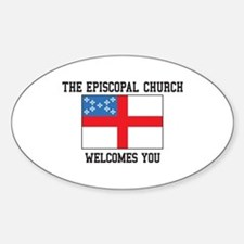The Episcopal church welcomes you Stickers
