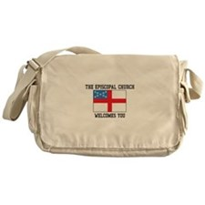The Episcopal church welcomes you Messenger Bag