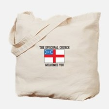 The Episcopal church welcomes you Tote Bag