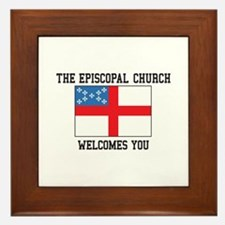The Episcopal church welcomes you Framed Tile