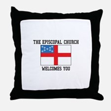 The Episcopal church welcomes you Throw Pillow