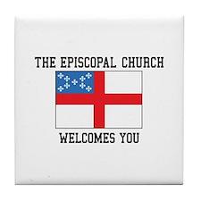 The Episcopal church welcomes you Tile Coaster