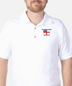 The Episcopal church welcomes you Golf Shirt