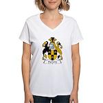 Symons Family Crest  Women's V-Neck T-Shirt