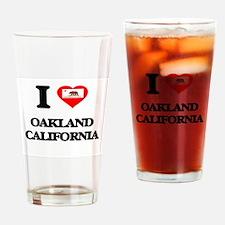 I love Oakland California Drinking Glass