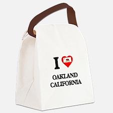 I love Oakland California Canvas Lunch Bag