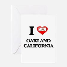 I love Oakland California Greeting Cards