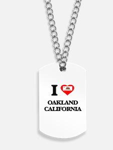 I love Oakland California Dog Tags