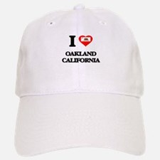 I love Oakland California Baseball Baseball Cap