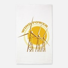 Wind Power Area Rug