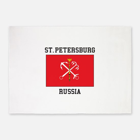 St. Petersburg Flag 5'x7'Area Rug
