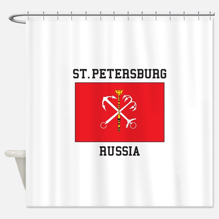 St. Petersburg Flag Shower Curtain