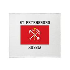 St. Petersburg Flag Throw Blanket